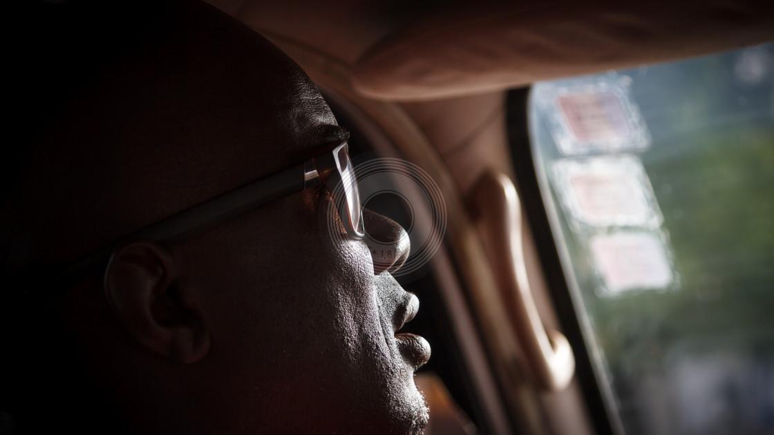 """Profile taxi driver"" stock image"