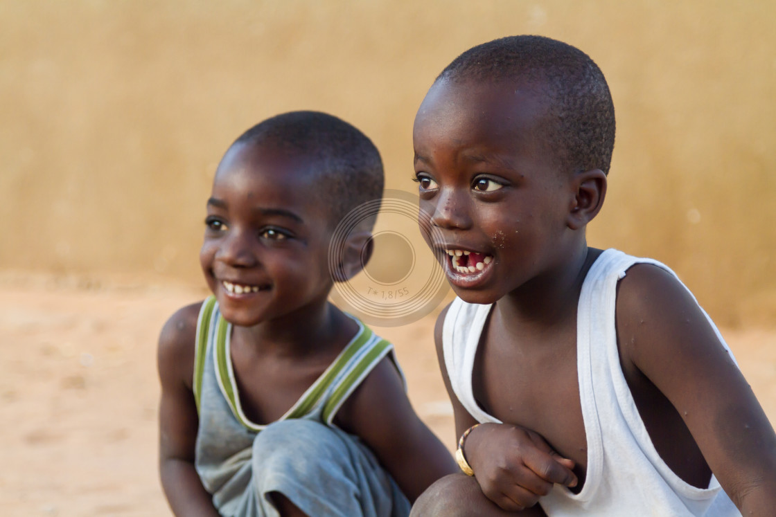"""Senegalese boys laughing"" stock image"