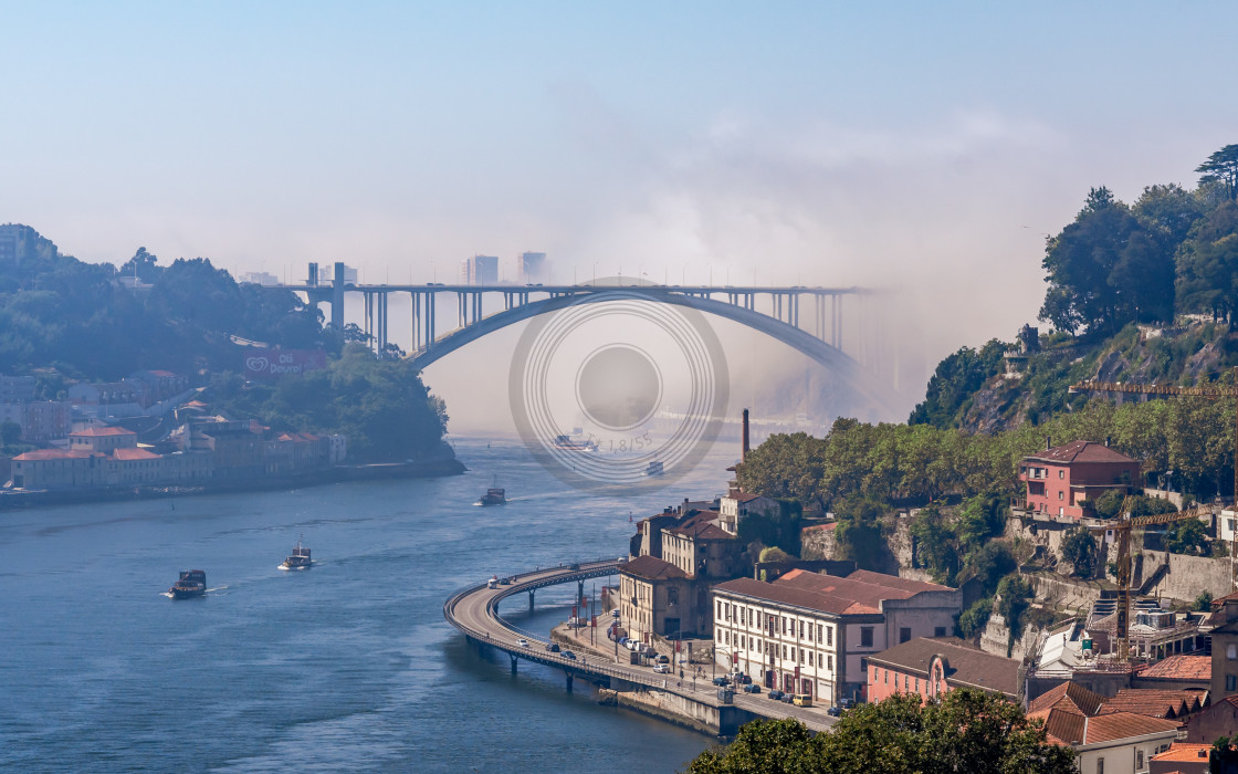 """Fog in the city"" stock image"