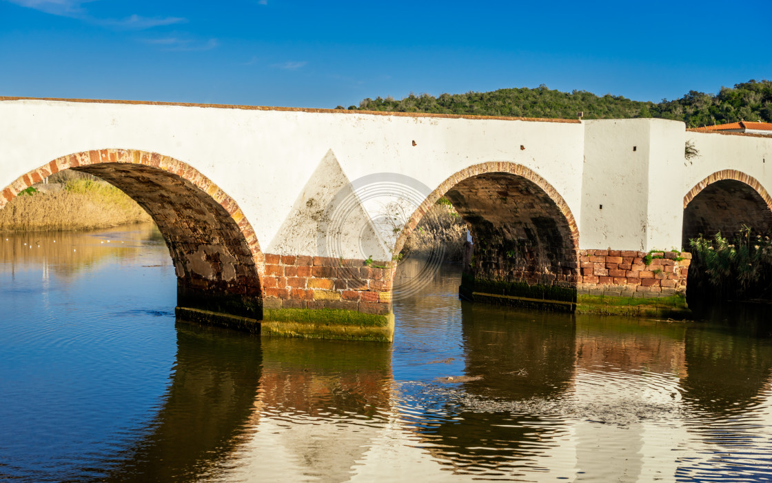 """Ancient Roman bridge in Silves"" stock image"