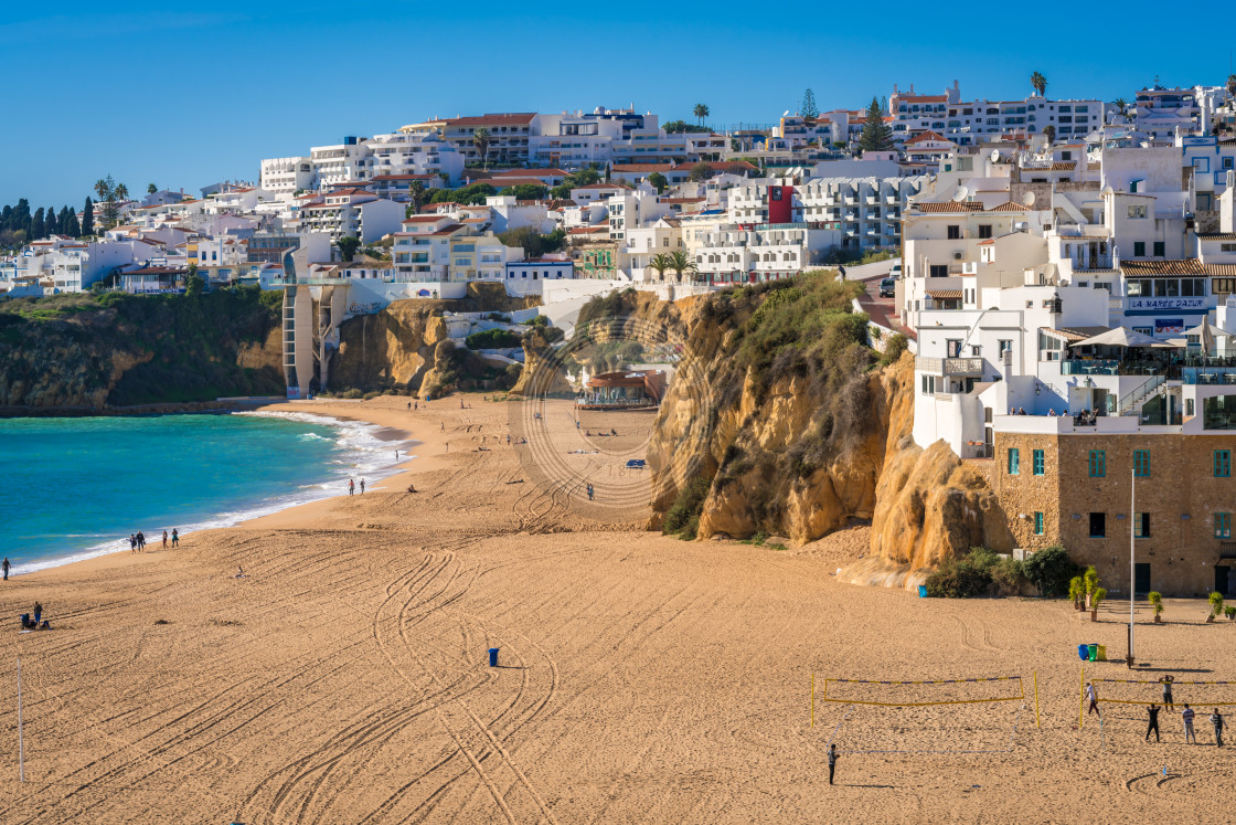 """Sunny Albufeira beach"" stock image"