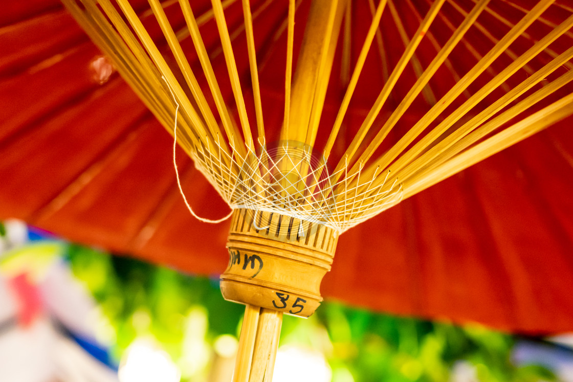 """Hand made colourful sun umbrella"" stock image"