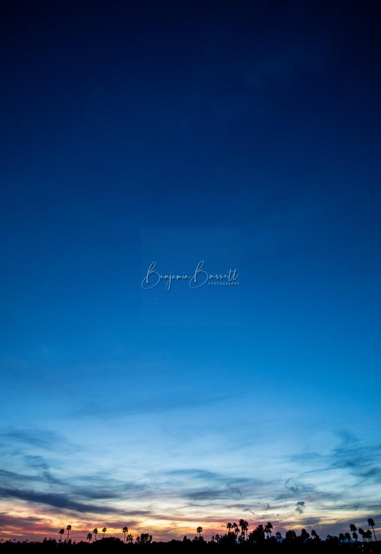"""Sunset Above Phoenix"" stock image"