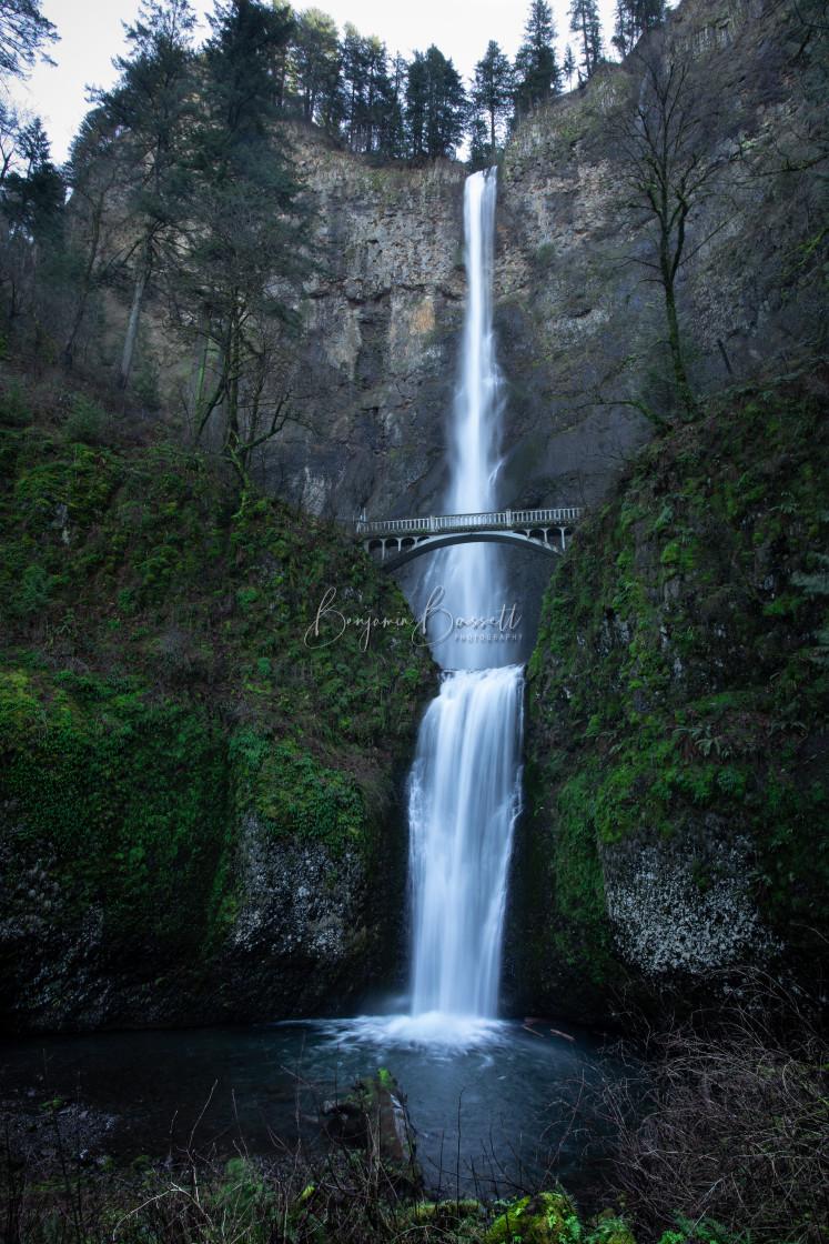 """Famous Multnomah Falls"" stock image"