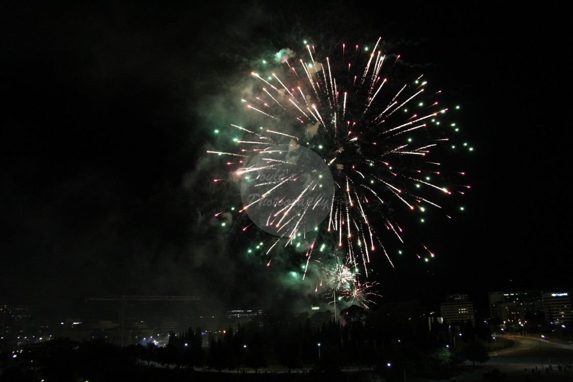 """Large Starburst Fireworks"" stock image"