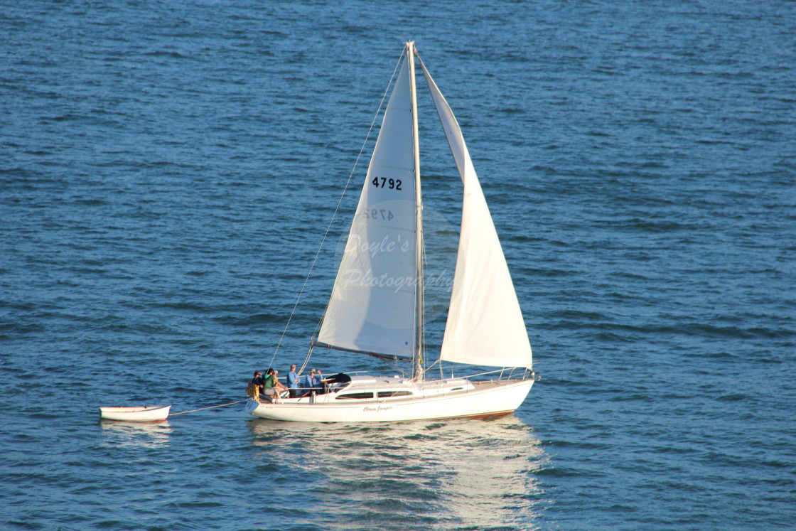"""""""Sailing Running with the Wind"""" stock image"""