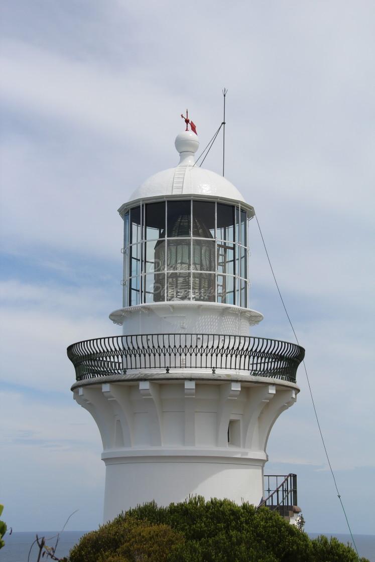 """""""Smoky Cape Lighthouse - Portrait"""" stock image"""