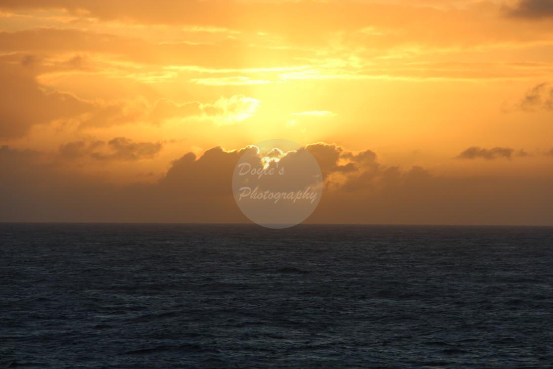"""Golden Sea Sunset"" stock image"