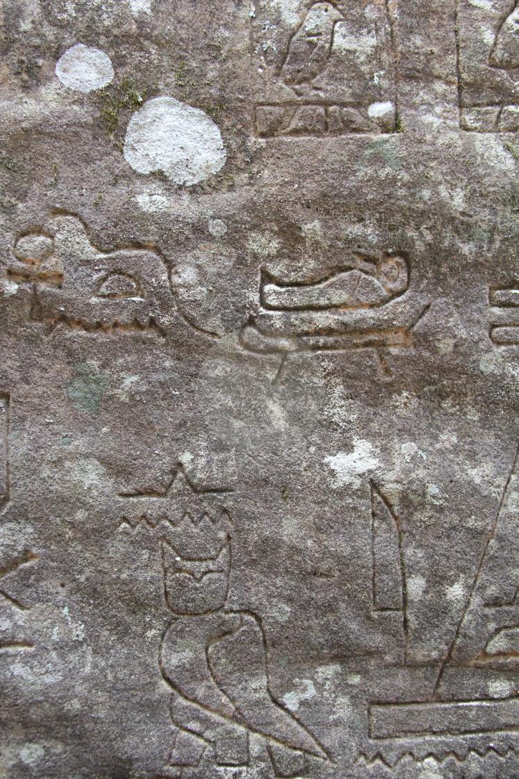 """Rock Carvings at Gosford"" stock image"