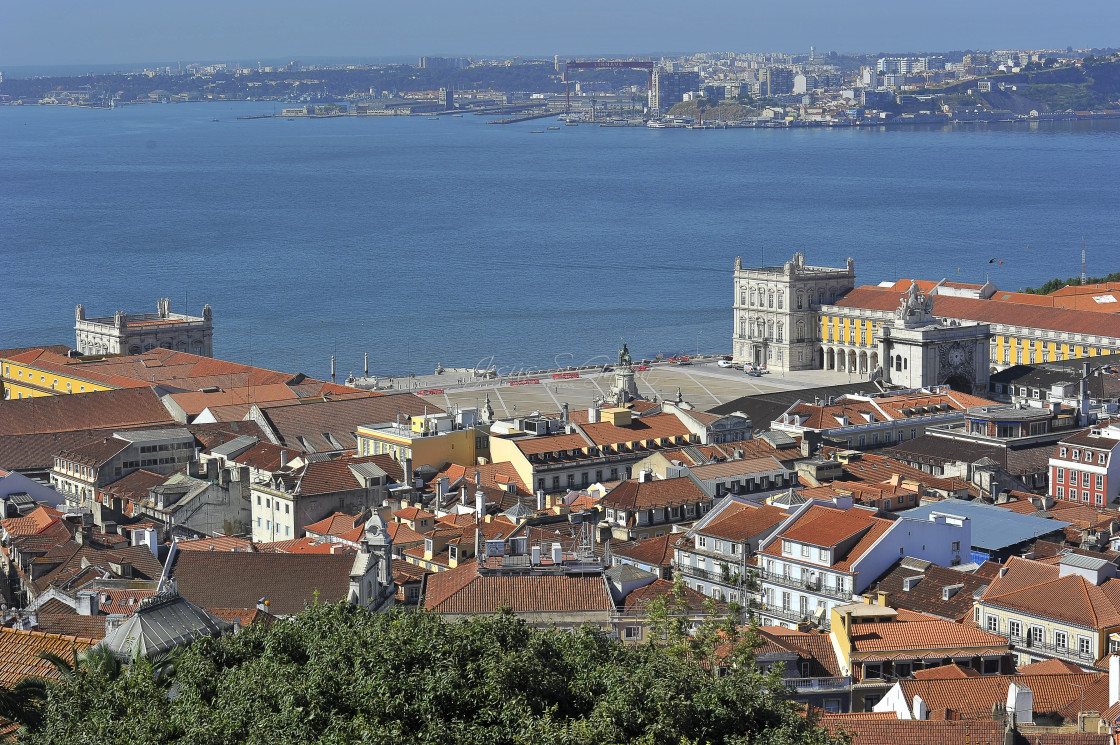 """""""General view of Lisbon, Portugal"""" stock image"""