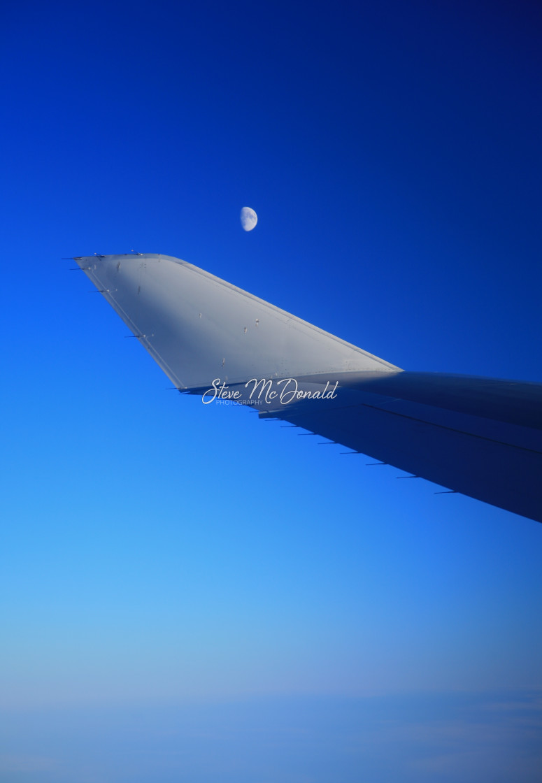 """Half Moon over the Atlantic"" stock image"