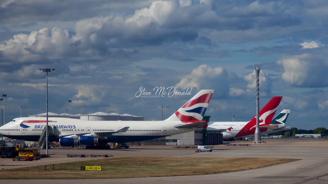 """One World at Heathrow"" stock image"