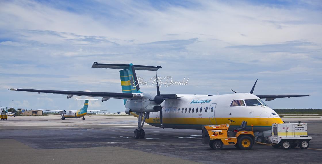 """Air Bahamas ATR's"" stock image"
