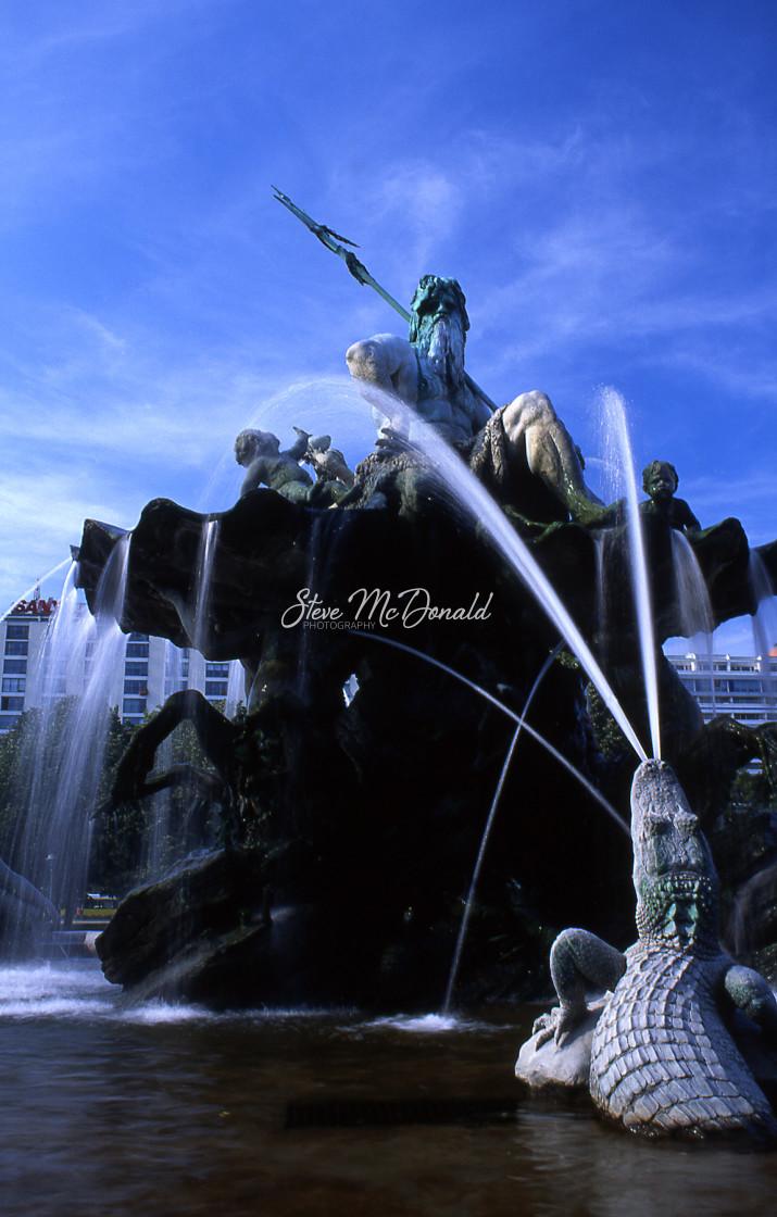 """Neptune's Fountain"" stock image"