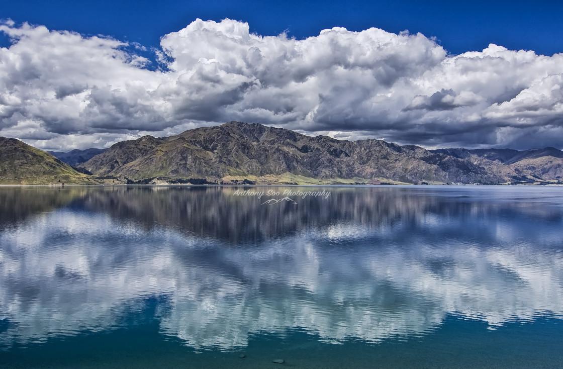 """""""Lake Hawea Reflection"""" stock image"""