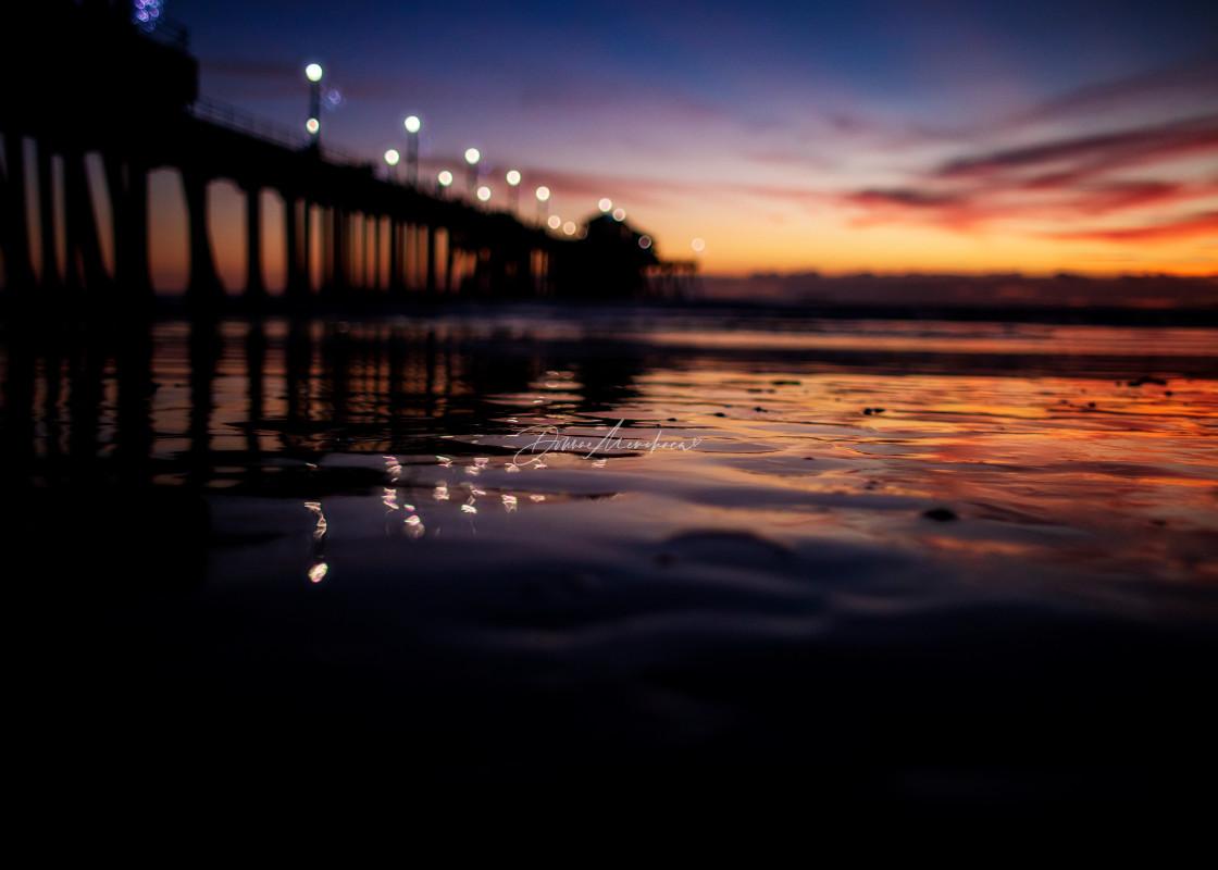 """still water sunset HB Pier"" stock image"