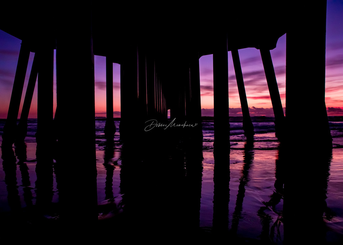 """""""pink under the pier"""" stock image"""