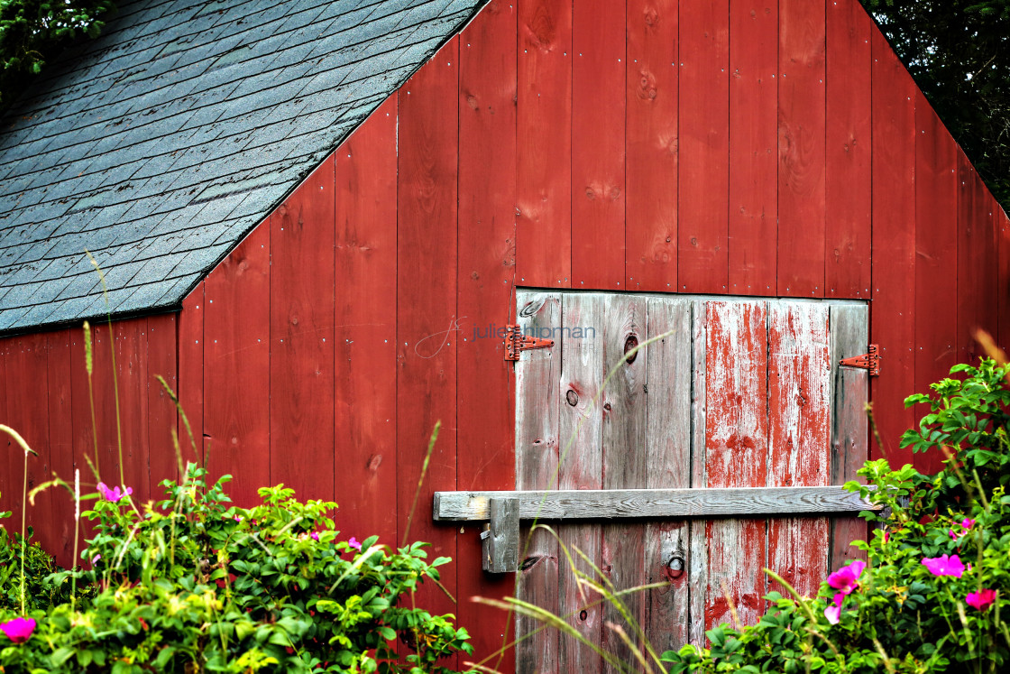 """""""Old Red Barn"""" stock image"""