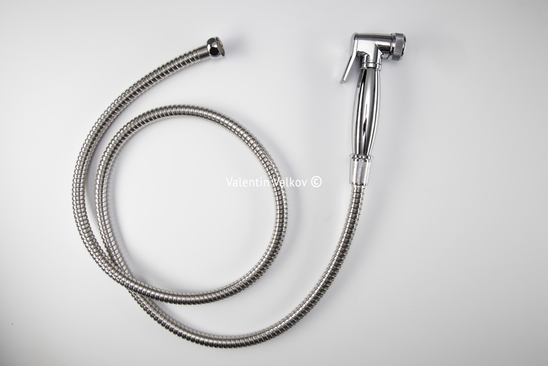 """Shower hose isolated on white background"" stock image"