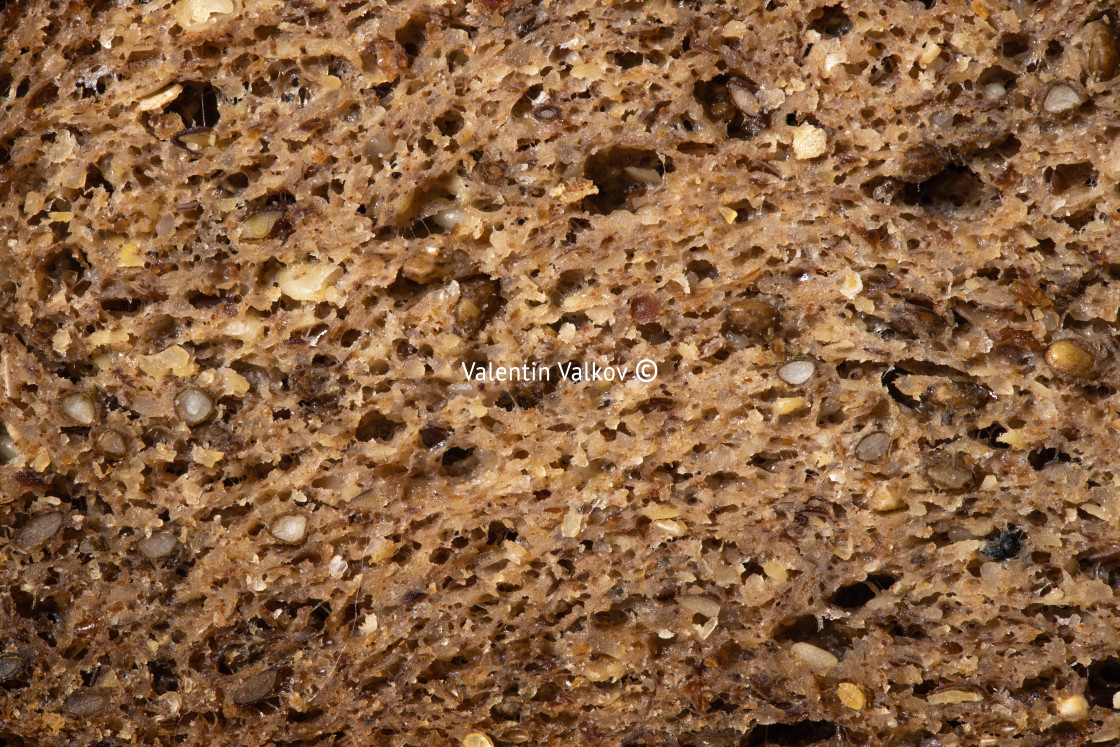 """Whole grain bread texture background"" stock image"