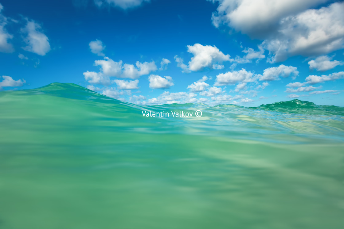 """""""Sea wave and blue sky with cloud. Punta Cana, Dominican Republic"""" stock image"""