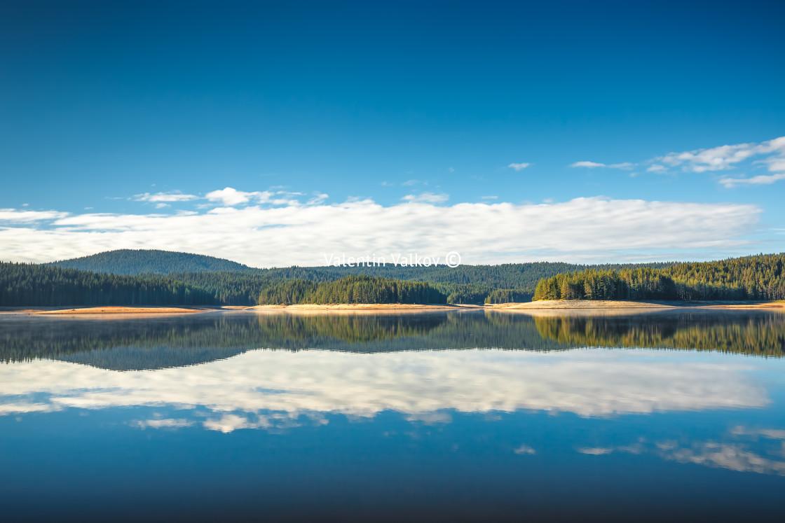 """Beautiful Lake and mountains"" stock image"