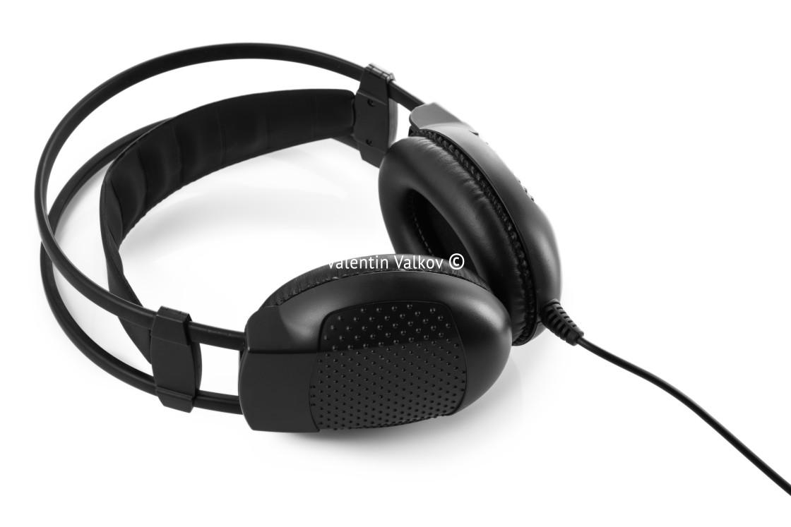 """""""Headphones isolated on white background"""" stock image"""