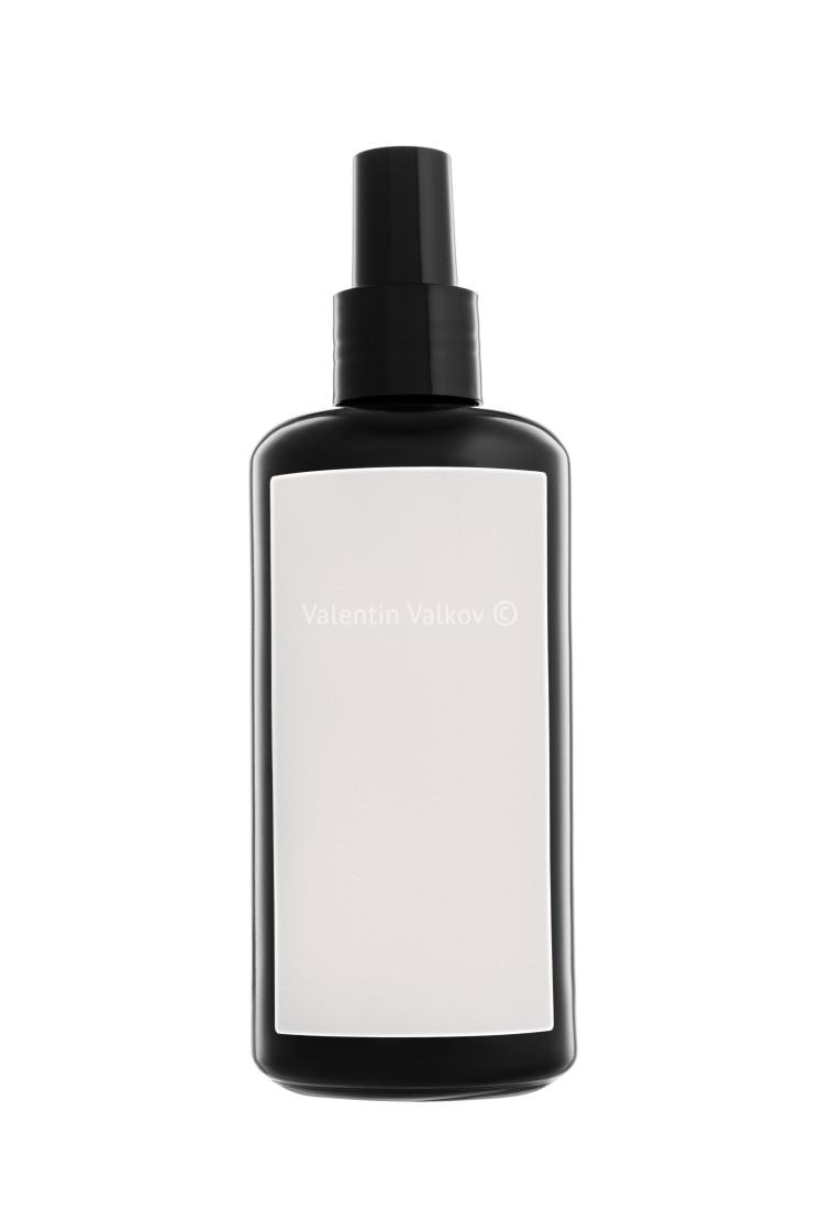 """Cosmetic spray bottle isolated on white"" stock image"