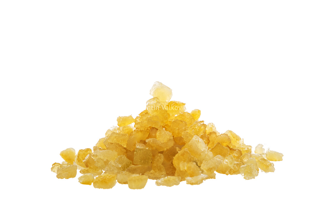 """""""Candied dried citrus fruits peel isolated on white background"""" stock image"""