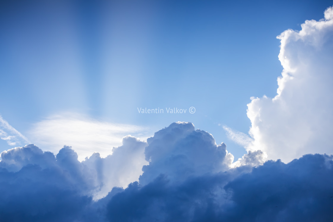 """""""Sunset dramatic sky clouds"""" stock image"""