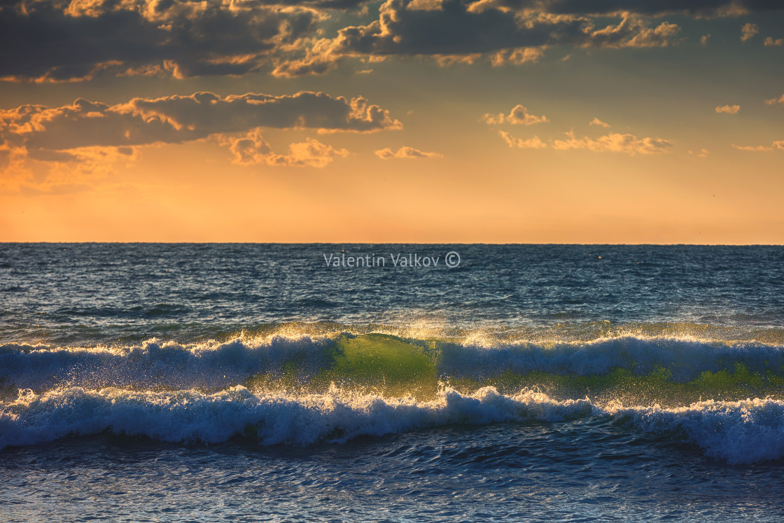 """""""Sunrise Wave"""" stock image"""