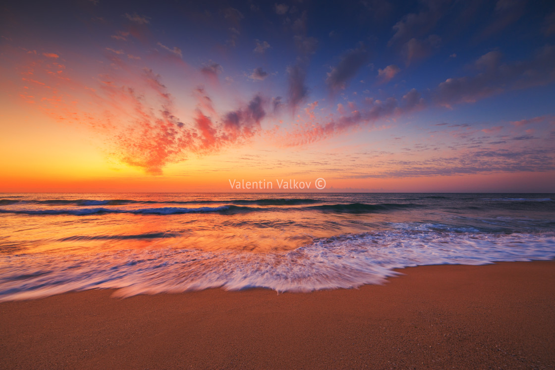"""""""Beautiful sunset over the tropical sea"""" stock image"""