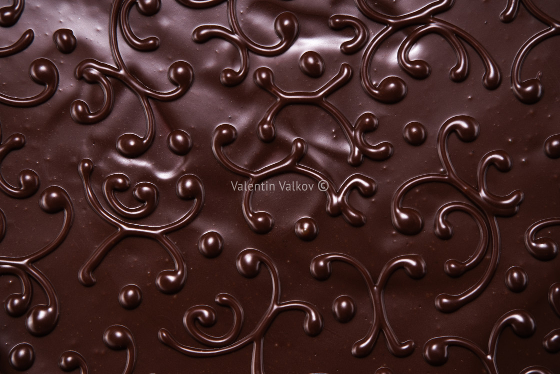 """""""Chocolate cake with as background"""" stock image"""