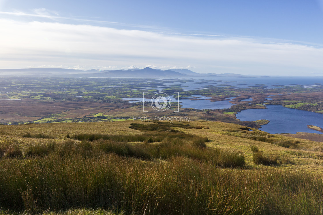 """""""View From Buckagh Mountain, Newport, Co Mayo"""" stock image"""