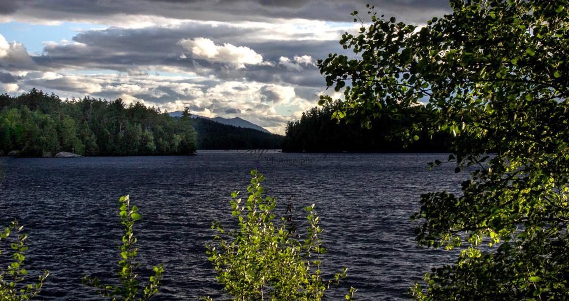 """""""Lake Colby, Saranac Lake, NY"""" stock image"""