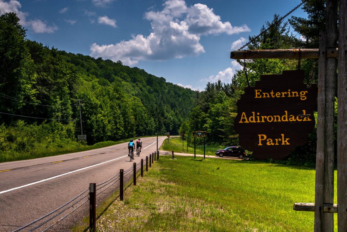 """Entering Adirondack Park"" stock image"
