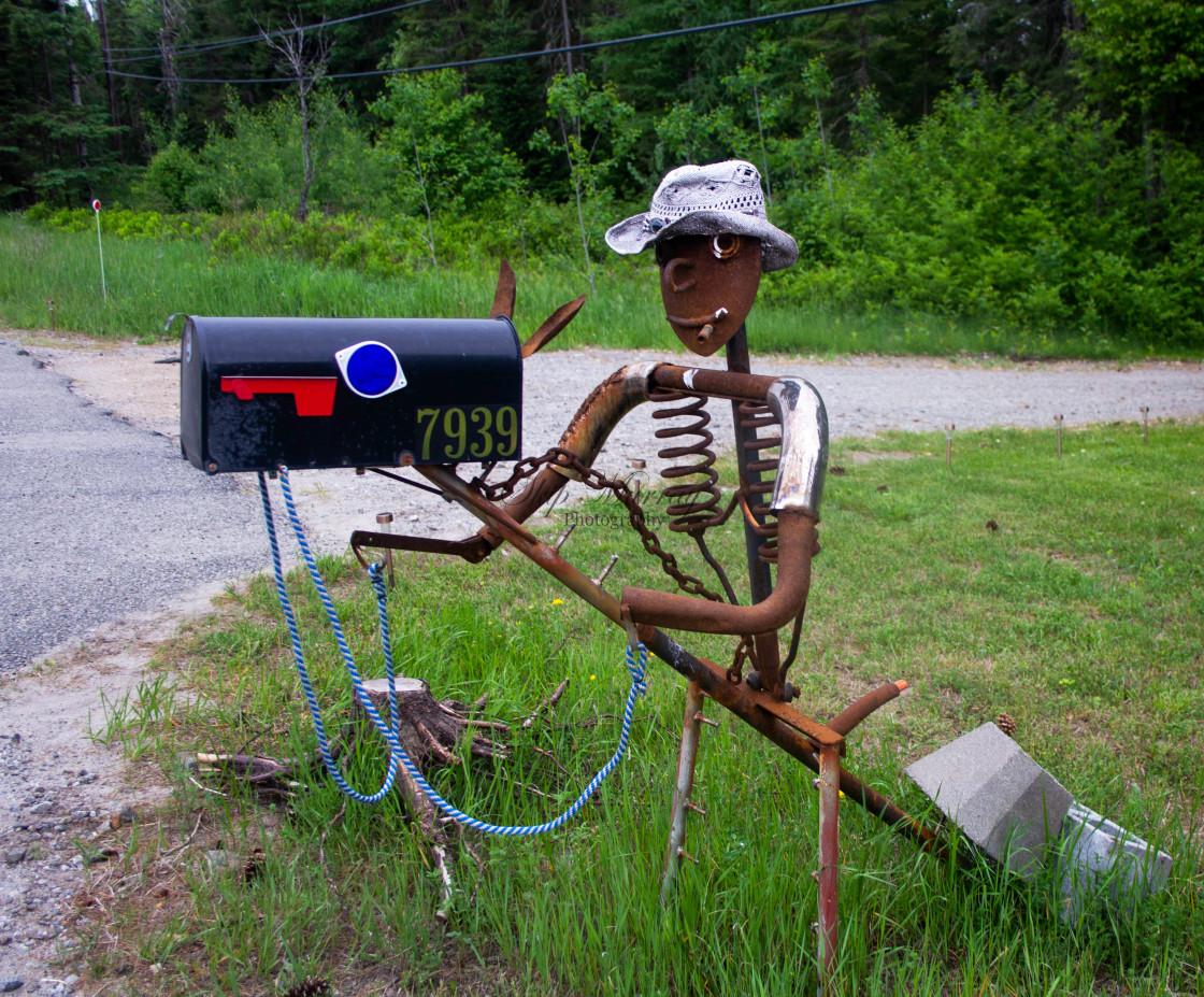 """Mailbox Man"" stock image"