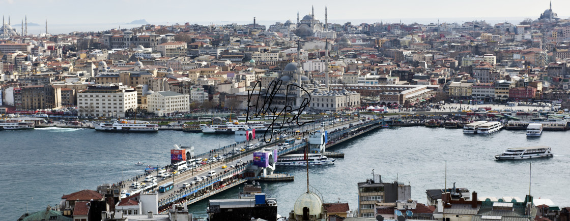 """""""A view of Istanbul from Galata Tower"""" stock image"""