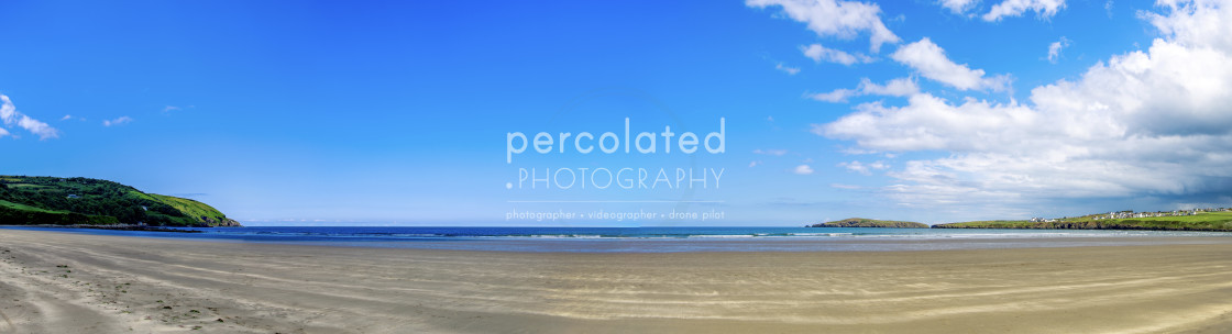 """Poppit Sands Beach Panoramic"" stock image"