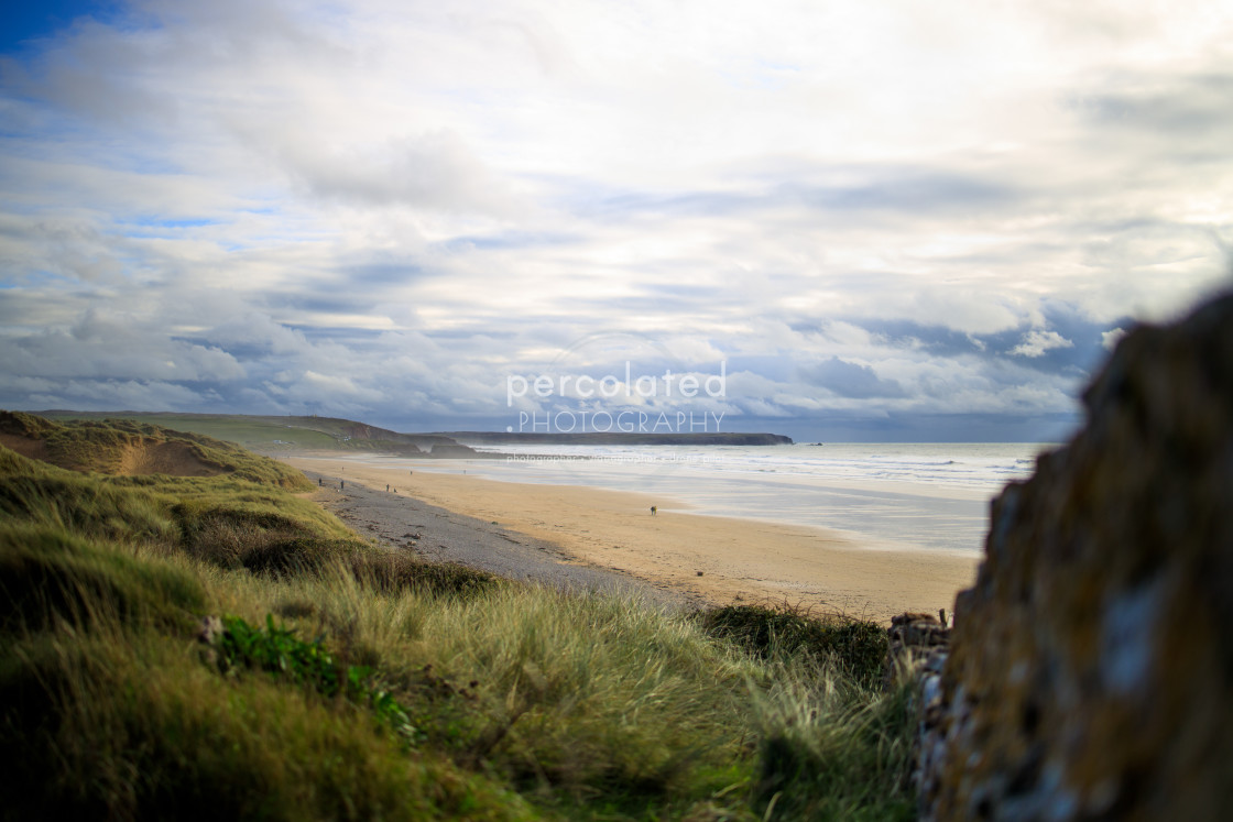 """Freshwaterwest from the coast path"" stock image"