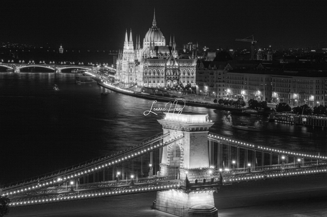 """Budapest Night Brillance"" stock image"