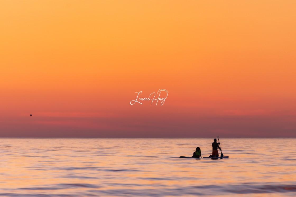 """Sauble Sunset Bliss"" stock image"