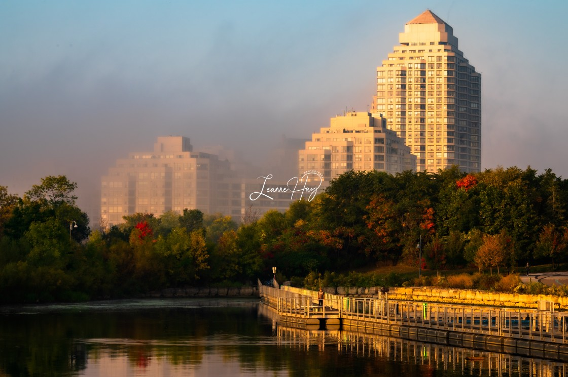 """MIsty Morning in Toronto"" stock image"