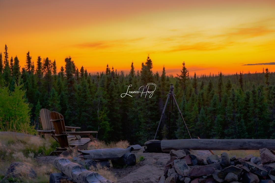 """Northwest Territories Sunset"" stock image"
