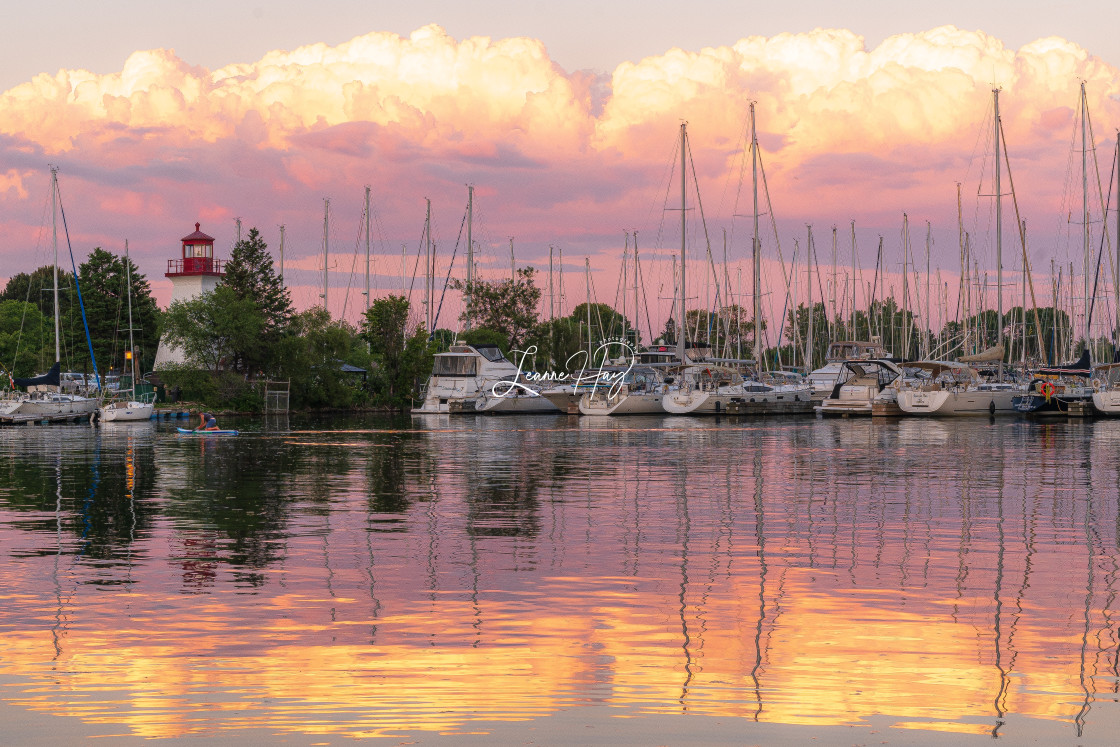 """""""Cotton Candy Sunset at the Marina"""" stock image"""