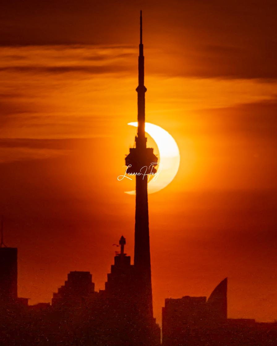 """2021 Annular Solar Eclipse-Toronto"" stock image"
