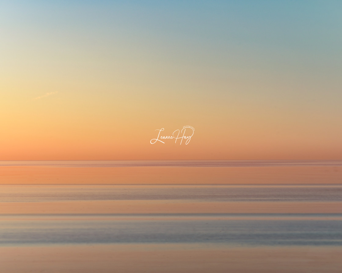 """Sunrise Seashore Serenity"" stock image"