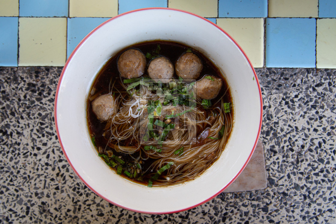 """Thai soup with balls."" stock image"