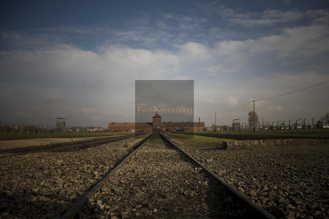 """""""Auschwitz-Birkenau"""" stock image"""