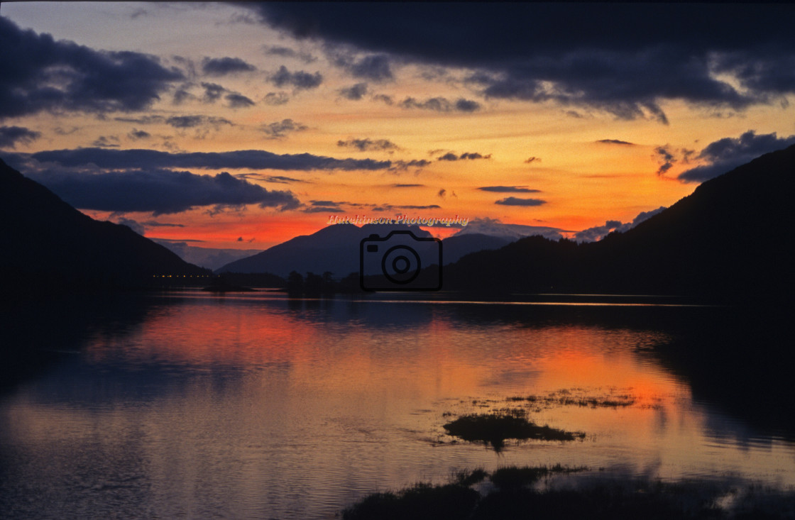 """""""Loch Leven Sunset"""" stock image"""